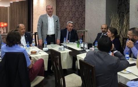 EYOF Koordinasyon Heyeti ETSO'nun Yemeğinde Buluştu