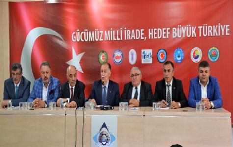 """Erzurum'da STK'lardan Ortak Açıklama; """"15 Temmuz'u Unutmayacağız, Unutturmayacağız"""""""