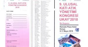 UKAY'2018 Kongre Duyurusu