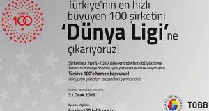 """TOBB Başkanı M. Rifat Hisarcıklıoğlu: """"Türkiye'nin en hızlı büyüyen 100 şirketini arıyoruz""""."""