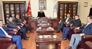 Başkan Adayı Sunar'dan, ETSO Başkanı Yücelik'e Ziyaret