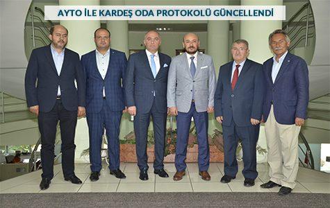 TOBB YÖNETİM KURULU ÜYESİ ÜLKEN'DEN ETSO'YA ZİYARET